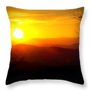 Highland Sunset Throw Pillow