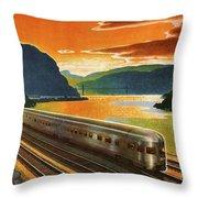 Highlands Of Hudson, Railway, Train Throw Pillow