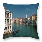 Hight Tide In Venice Throw Pillow