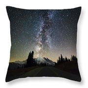 Hightway To The Stars Throw Pillow