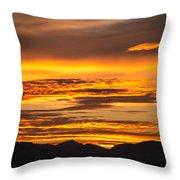 Highway 2 Sunrise Throw Pillow