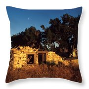 Highway 30 Homestead Throw Pillow