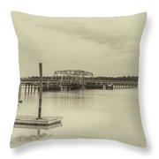 Highway 41 Bridge Built In 1939 Throw Pillow