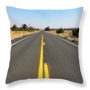 Highway In Central Oregon Throw Pillow