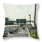 Highway In Dubai Throw Pillow