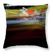 Highway Lights Throw Pillow