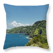 Highway To Heaven Hana Highway Maui Hawaii Throw Pillow