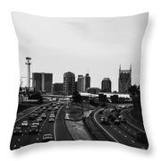highway to Music City Throw Pillow