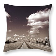 Highway To Paradise Throw Pillow