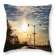 Highway To The Sun Throw Pillow