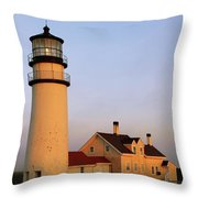 Higland Lighthouse Cape Cod Throw Pillow