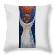 Hija De La Luna Throw Pillow