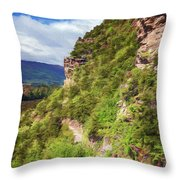 Hike Up Mt Iron Wanaka New Zealand Throw Pillow
