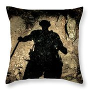 Hikers Shadow Throw Pillow
