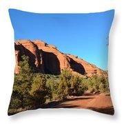 Hiking In Red Rocks In Arizona Throw Pillow