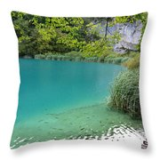 Hiking Kaluderovac Lake Throw Pillow