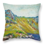 Hiking Near Windermere Throw Pillow