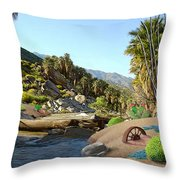 Hiking The Canyons Throw Pillow