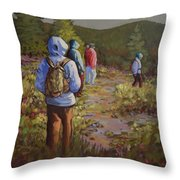 Hiking The Paintbrush Trail, Manning Provincial Park, B. C., Revisited Throw Pillow