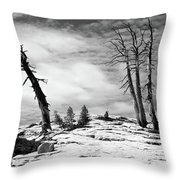Hiking The Rim, Yosemite Throw Pillow