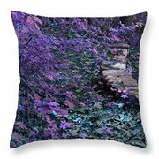Hiking Trail Infrared Throw Pillow