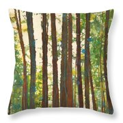Hiking With The Dogs Throw Pillow