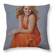 Hilary Duff Throw Pillow