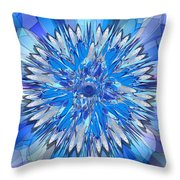 Hildegarde -- Floral Disk Throw Pillow