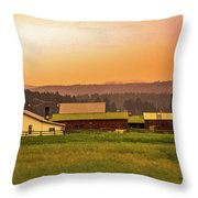 Hill City Scenic View, South Dakota Throw Pillow