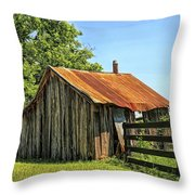 Hill Country Barn Throw Pillow