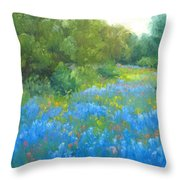 Hill Country Blues Throw Pillow