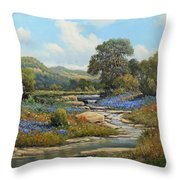 Hill Country Draw Throw Pillow