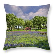 Hill Country Farming Throw Pillow