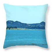 Hill Country Lake Throw Pillow