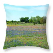 Hill Country Pastel Panorama Throw Pillow