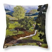 Hill Country Pasture Throw Pillow