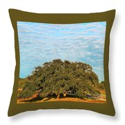 Hill Country Tree  Throw Pillow