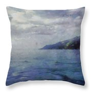Hill In The Distance Throw Pillow