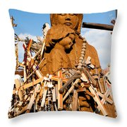 Hill Of Crosses Lithuania Throw Pillow