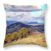 Hill Shadows Kanimbla  Throw Pillow