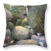 Hill Side Spring Throw Pillow