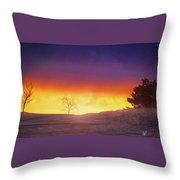 Hill Sunset Throw Pillow