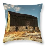 Hill Top Barn Throw Pillow