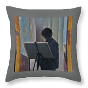 Hillary At The Easel Throw Pillow