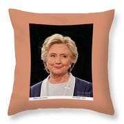 Hillary At The Debate Throw Pillow