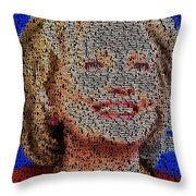 Hillary Presidents Mosaic Throw Pillow