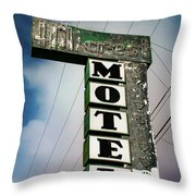 Hillcrest Motel Throw Pillow