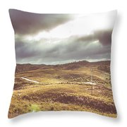 Hills And Outback Tracks Throw Pillow