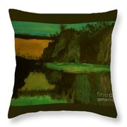 Hills And Valleys And Lakes Throw Pillow