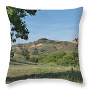 Hills In Peters Canyon Throw Pillow